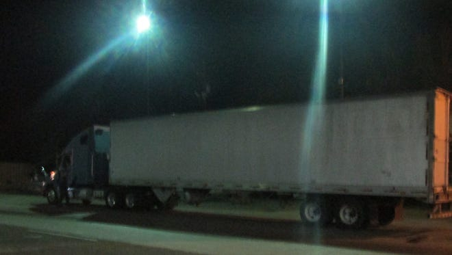 Border Patrol agents discovered 32 undocumented immigrants in a refrigerated tractor trailer Thursday, Dec. 15, 2016, at the Falfurrias checkpoint.