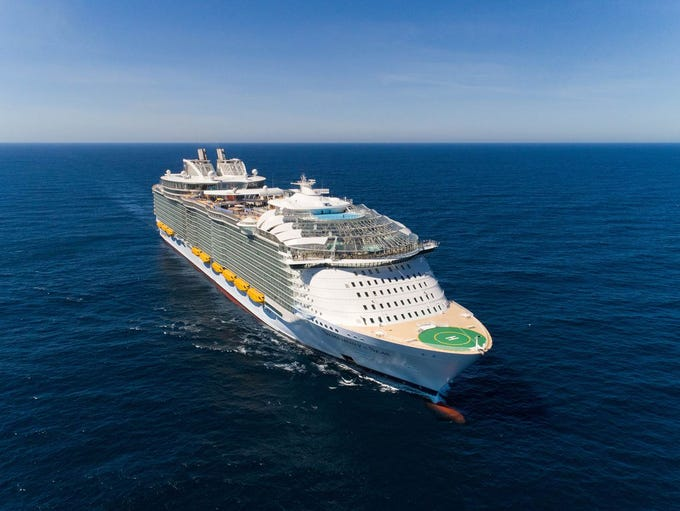 At 228,081 tons, Royal Caribbean's Symphony of the