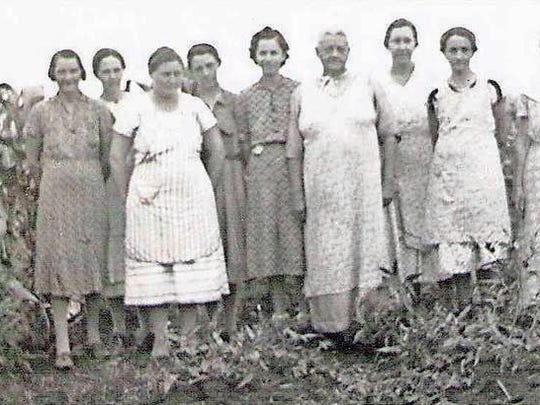 This photo from the 1930s shows some of the women who
