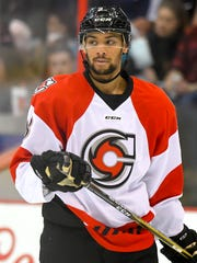 Cincinnati Cyclones defenseman Devante Stephens.