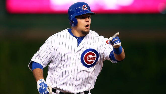 Middletown native Kyle Schwarber has three home runs in five postseason games so far in 2015.