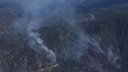 A view from above of the Ward Fire burning in the Plumas National Forest taken Thursday morning.