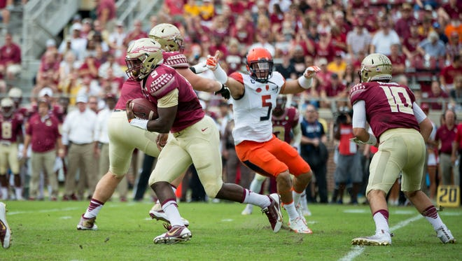 Jacques Patrick rushed for two touchdowns against Syracuse.
