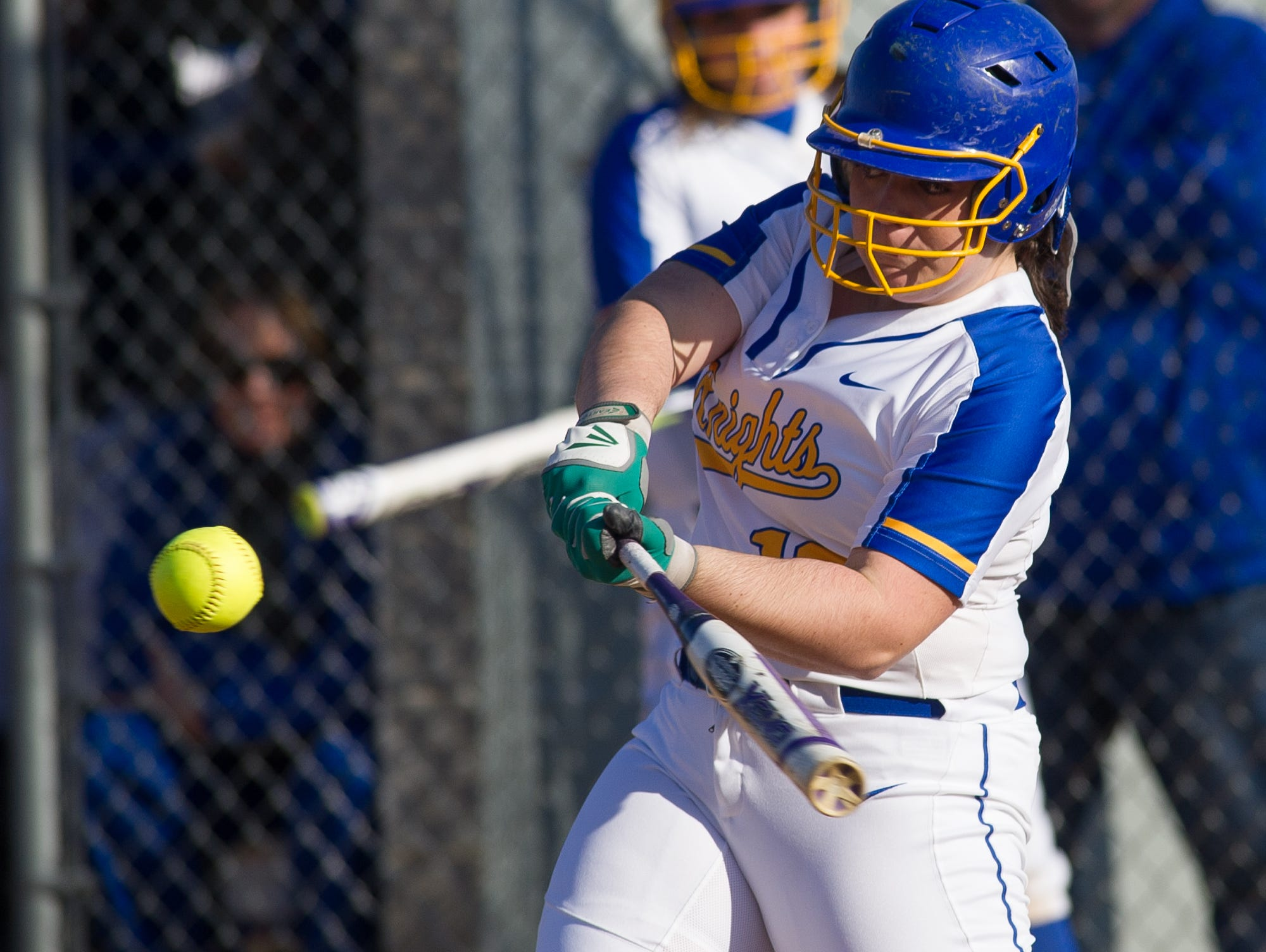 Sussex Central's Taylor Evick (12) takes a swing at a pitch in their game against Sussex Tech.