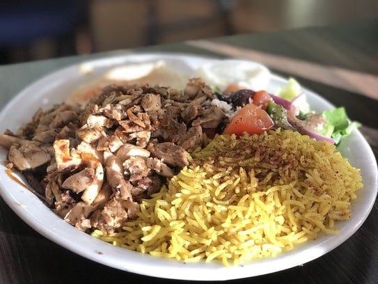 The chicken shawarma platter  from Green Corner Restaurant