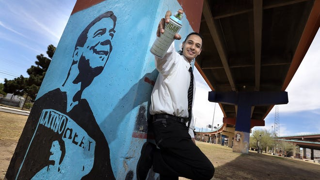 Artist Eric Dubitsky is restoring the Eddie Guerrero mural he painted at Lincoln Park about 10 years ago. Dubitsky will also add to the mural as he goes forward.