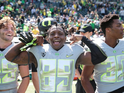 Wide receiver Darrin McNeal (89) celebrates at the