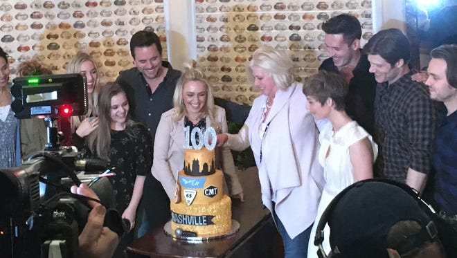 'Nashville' celebrated 100 episodes with a party for cast and crew.
