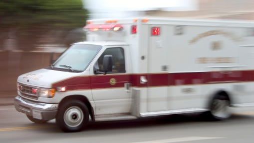 At least three people were hurt when two vehicles crashed in Franklin Township Wednesday, according to media reports.