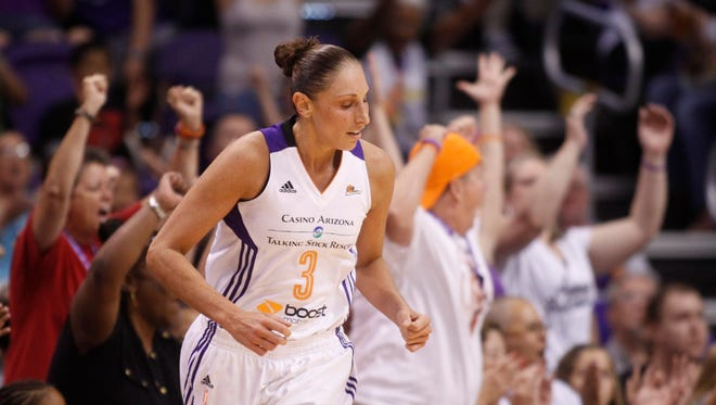 Diana Taurasi during Game 1 of the WNBA Western Conference semifinals at US Airways Center in Phoenix on August 22, 2014.