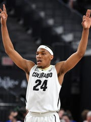 Mar 7, 2018; Las Vegas, NV, USA; Colorado Buffaloes