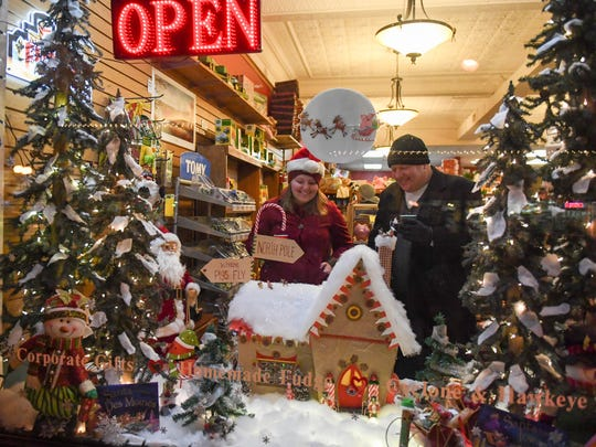 Enjoy holiday displays in shops and around communities