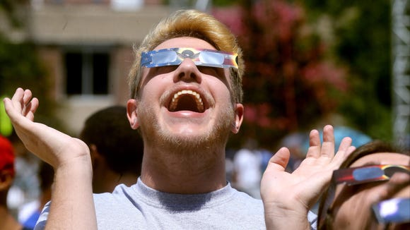 Middle Tennessee State University eclipse viewing party