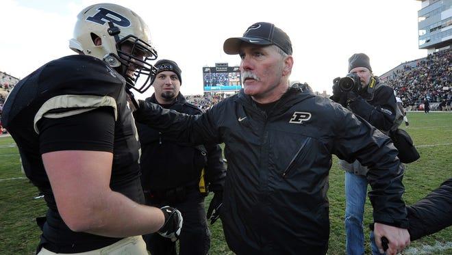 FILE -- Former Purdue coach Danny Hope reportedly is set to join South Florida's staff.