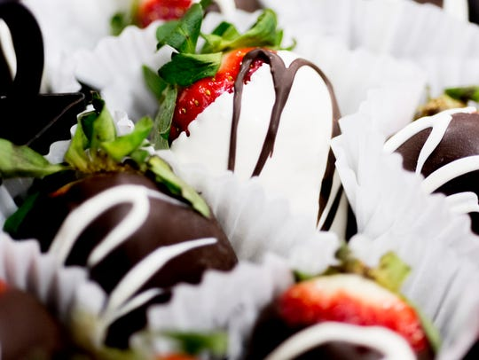 Chocolate-covered strawberries were some of the samples available during the annual Knoxville Chocolatefest at the downtown convention center Jan. 27.