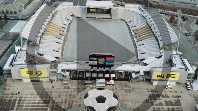 Mapfre Stadium, the current home of the Columbus Crew, will become the team's practice facility when a new Downtown stadium is completed and will be surrounded by a city recreation park under proposed plans for the site.