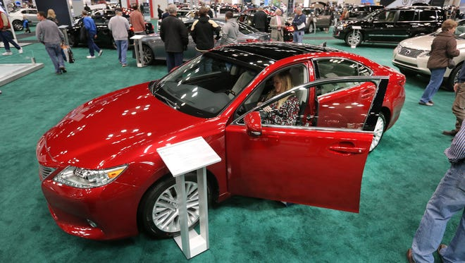 The 2014 Lezus ES 350 was on display during last year's Indianapolis Auto Show at the Indianapolis Convention Center.