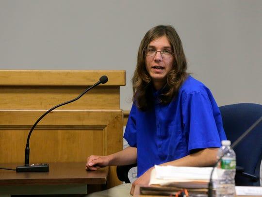 Parker Drake testifies during the trial of Nicholas