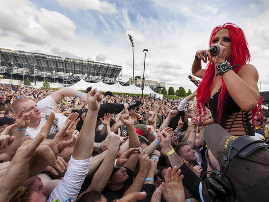 The 2014 roster of acts at rock on the range included