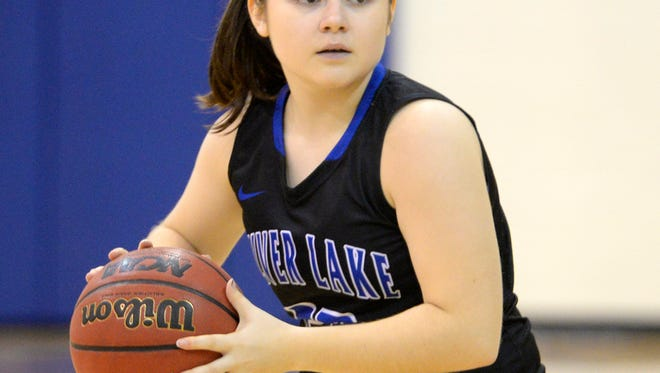 Silver Lake College sophomore guard Ashley Rumlow scored 43 points in two games at the Moody Bible Institute Classic in Chicago last weekend.