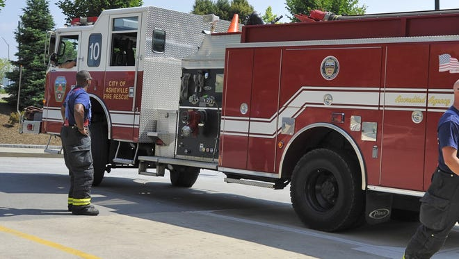 """Asheville's diesel-powered fire trucks have to conduct a """"regeneration"""" process periodically to clean a filter. A fire engine had to keep running during the recent Women's March to accomplish this task."""
