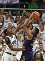 Michigan State freshman Jaren Jackson Jr. (2) is one