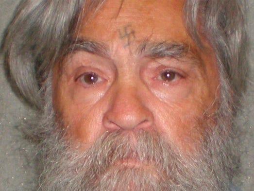 Charles Manson, 77, on  April 4, 2012.