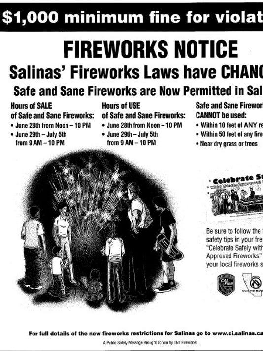 Salinas fireworks notice