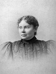 This is an undated photo of Lizzie Borden, the 32-year-old