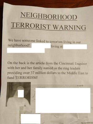 Redacted version of the Mason flyer.