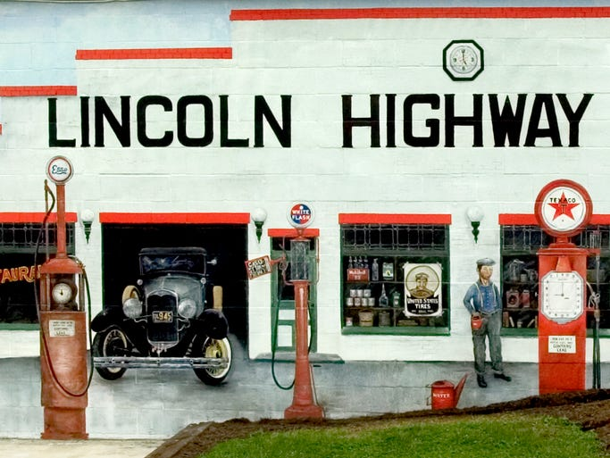 The original Lincoln Highway Garage as it looked in