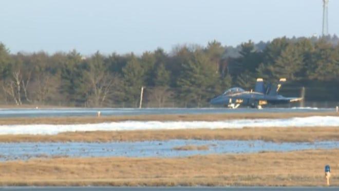 Blue Angel off runway