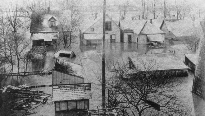 The flood of 1913 swamped the west side.