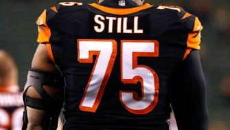 Cincinnati Bengals defensive tackle Devon Still's jersey ranked No. 46 on the 50 best-selling jerseys list.
