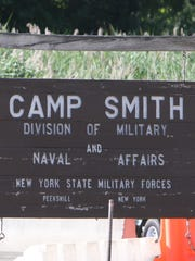 Entrance to Camp Smith, New York Army National Guard base in Cortlandt