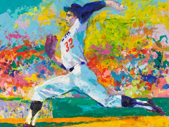 In addition to athletic subjects, LeRoy Neiman also