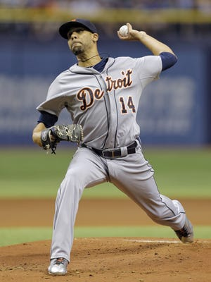 David Price pitches for the Tigers Tuesday night in what likely was his last start for Detroit.