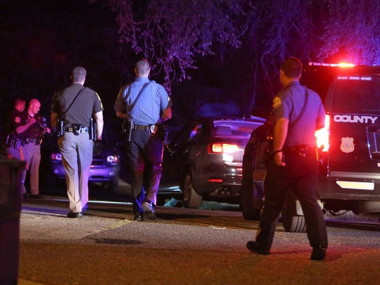 Police investigate after a man was found shot in Richardson Park shortly after 10:30 Tuesday night.