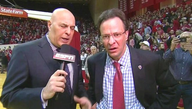 After Indiana's loss to Purdue, Tom Crean's face says it all.