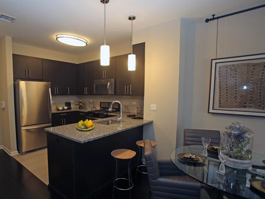 The kitchen in a two-bedroom apartment at the Quarry Place complex in Tuckahoe.