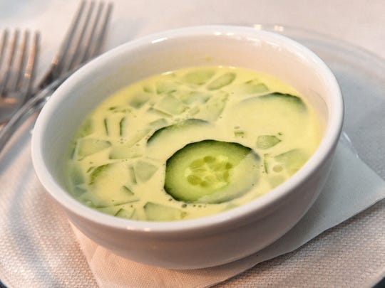 Cindy Gleason Johnson's second course was a cold cucumber