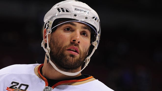 Anaheim Ducks forward Patrick Maroon has received regular play after Dustin Penner was traded in March.