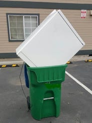 A Waste Management trash collector found this washing
