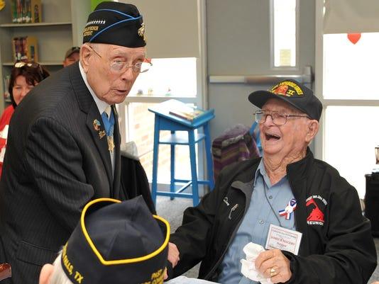 Sheppard Students Honor Iwo Jima Veterans