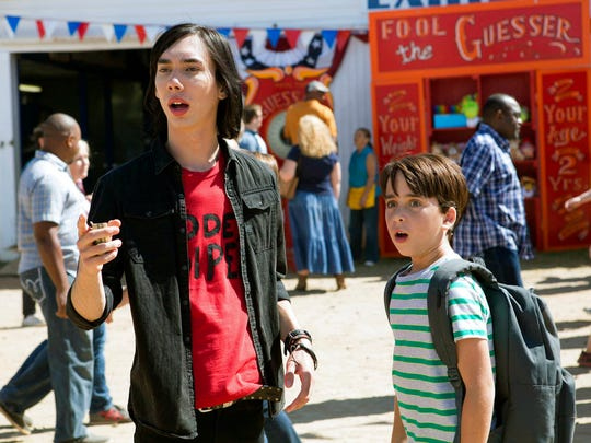 "Charlie Wright, left, and Jason Drucker star in""Diary of a Wimpy Kid: The Long Haul."" The movie opens Friday at Regal West Manchester Stadium 13."