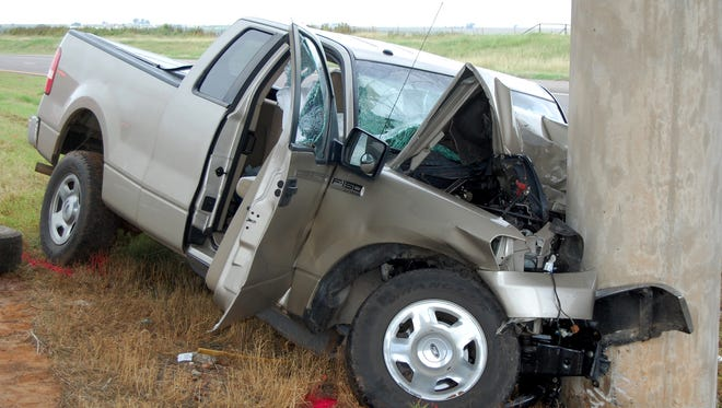 Two people were killed Wednesday, Oct. 5, a little before noon near Oklaunion in Wilbarger County when the Ford F-150 pickup they were in veered off the southbound lane of U.S. 287 and struck a concrete support beam of an overpass. They were pronounced dead at the scene. No other information was immediately available.