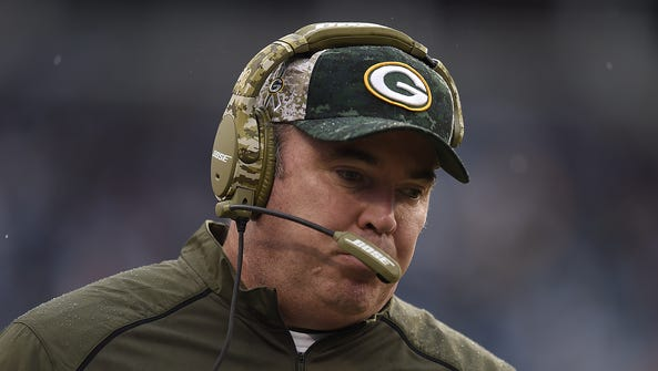 Green Bay Packers coach Mike McCarthy during Sunday's