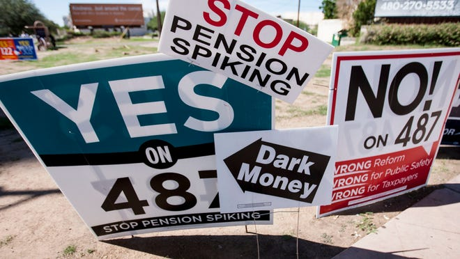 The anti-Prop. 487 campaign appears to be a statement by the city's public-safety unions, which will adamantly oppose any effort to change any public-employee retirement system.