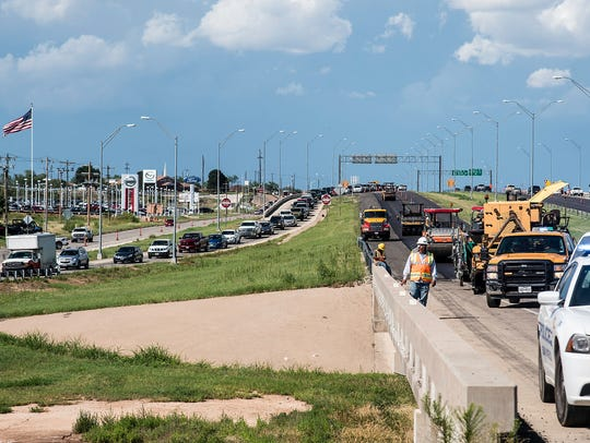 Traffic was diverted from the westbound land of Houston-Harte