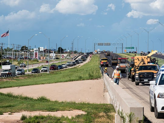 Traffic was diverted from the westbound land of Houston-Harte Expressway for several hours after a major vehicle crash occurred that sent several to the hospital Friday, July 7, 2017.